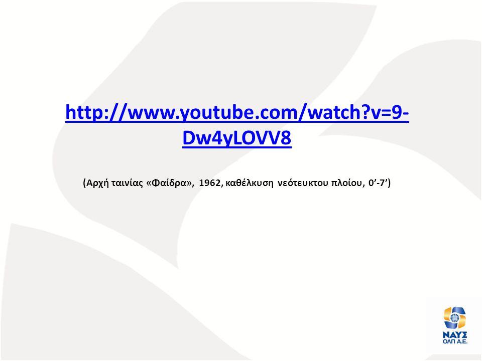 http://www.youtube.com/watch?v=9- Dw4yLOVV8 (Αρχή ταινίας «Φαίδρα», 1962, καθέλκυση νεότευκτου πλοίου, 0'-7')