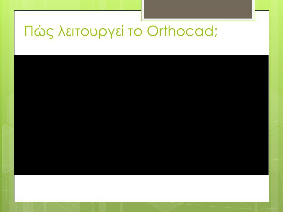 Πώς λειτουργεί το Orthocad;