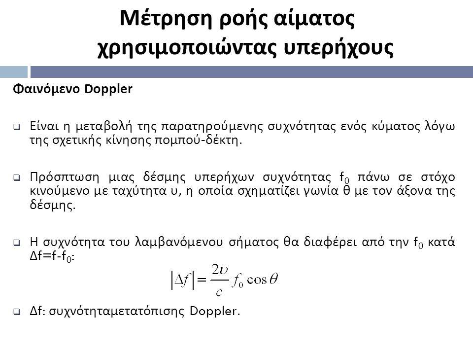 Φαινόμενο Doppler  Είναι η μεταβολή της παρατηρούμενης συχνότητας ενός κύματος λόγω της σχετικής κίνησης πομπού - δέκτη.  Πρόσπτωση μιας δέσμης υπερ
