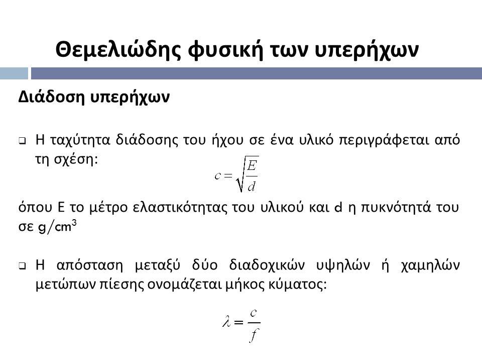 Μετατροπείς υπερήχων (transducers) Παραγωγή - Ανίχνευση υπερήχων Ένας μετατροπέας με 6-στοιχεία στην κατάσταση: (α) μεταδόσεως (β) λήψεως J.D.Bronzino, Biomedical Engineering Handbook, second edition, 2010.