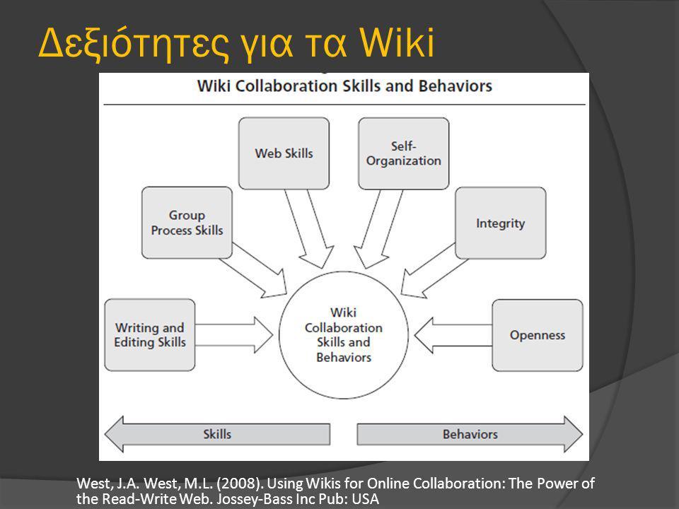 Δεξιότητες για τα Wiki West, J.A. West, M.L. (2008).