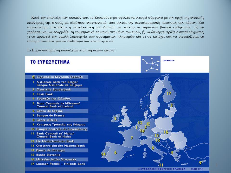 6 Κατά την επιδίωξη των σκοπών του, το Ευρωσύστημα οφείλει να ενεργεί σύμφωνα με την αρχή της ανοικτής οικονομίας της αγοράς με ελεύθερο ανταγωνισμό,
