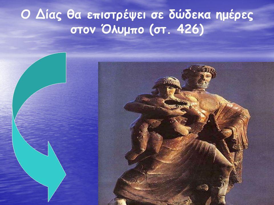 Ο Δίας θα επιστρέψει σε δώδεκα ημέρες στον Όλυμπο (στ. 426)