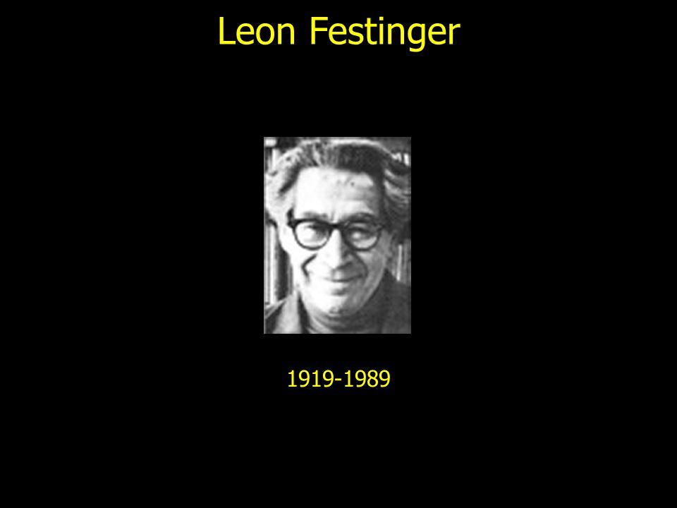 Leon Festinger 1919-1989