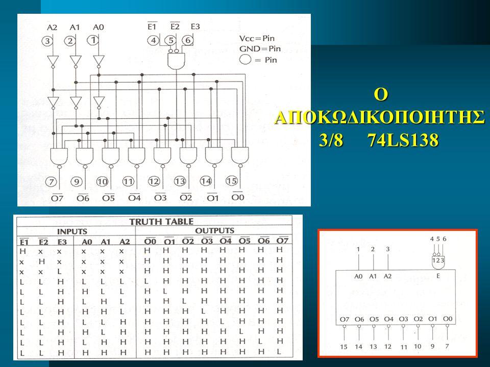ΟΑΠΟΚΩΔΙΚΟΠΟΙΗΤΗΣ 3/8 74LS138