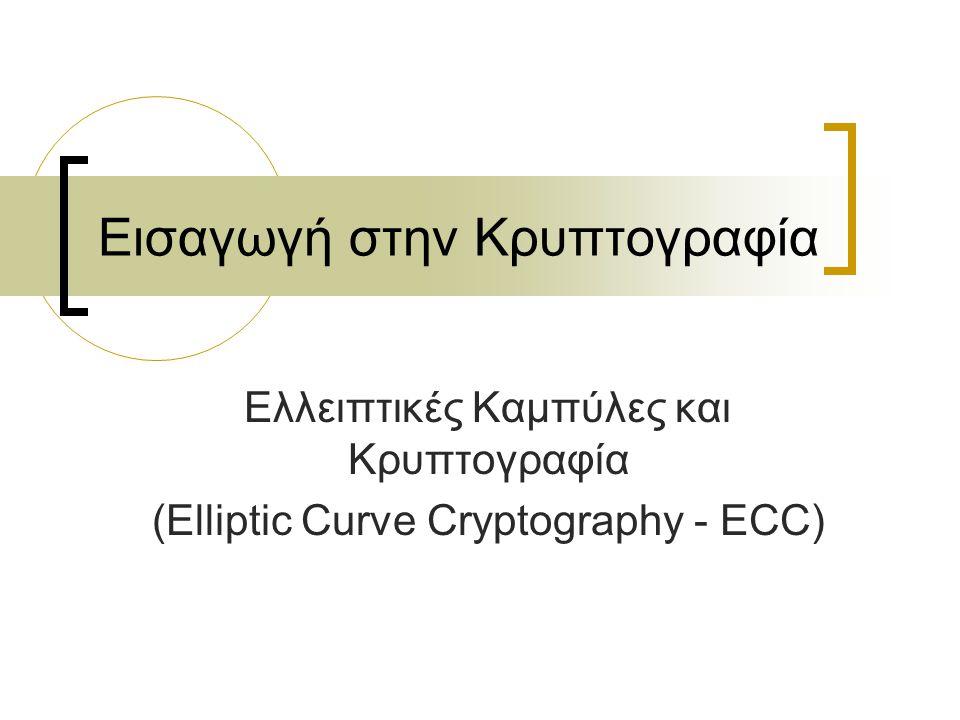 Εισαγωγή στην Κρυπτογραφία Ελλειπτικές Καμπύλες και Κρυπτογραφία (Elliptic Curve Cryptography - ECC)