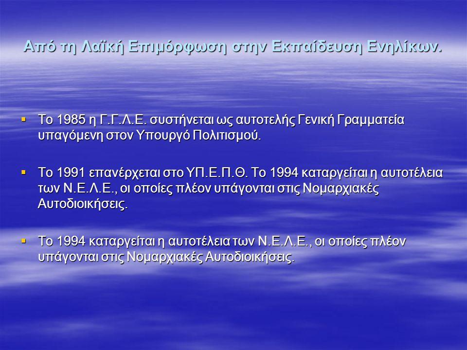 ΣΥΜΠΕΡΑΣΜΑΤΑ Άξονας 1 3.Η δικτυακή οργάνωση μεταξύ Κ.Ε.Ε 3.