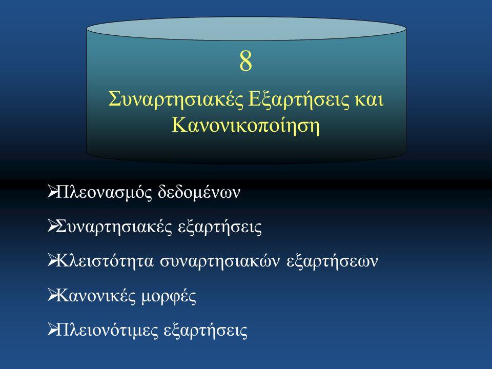 42 Πλειονότιμες εξαρτήσεις - παράδειγμα Κεφάλαιο 8: Συναρτησιακές εξαρτήσεις και κανονικοποίηση