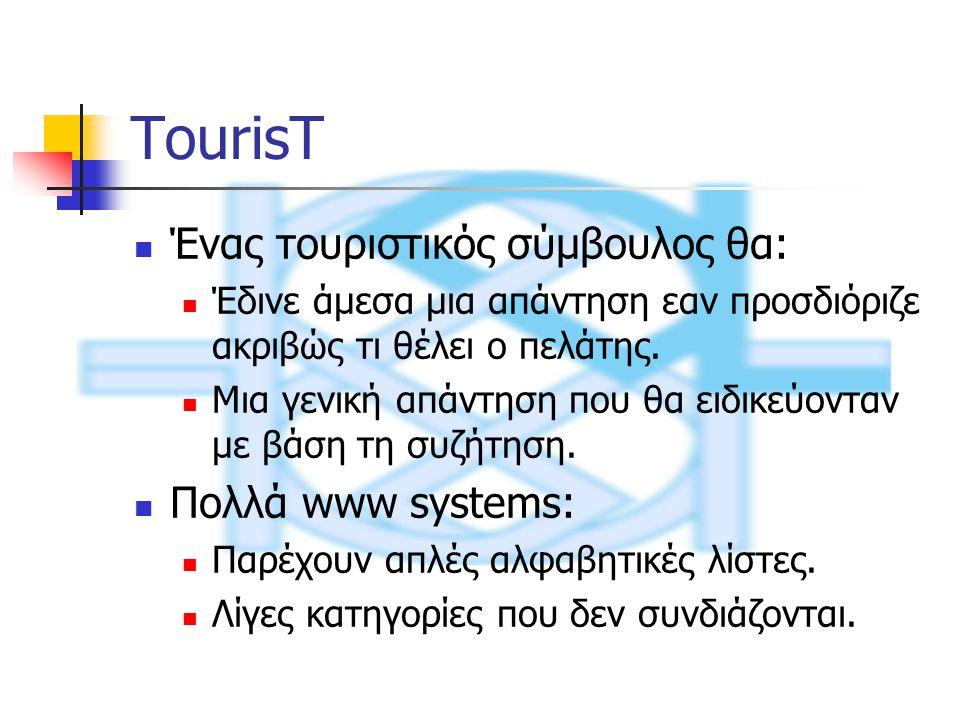 TourisT Ένας τουριστικός σύμβουλος θα: Έδινε άμεσα μια απάντηση εαν προσδιόριζε ακριβώς τι θέλει ο πελάτης.