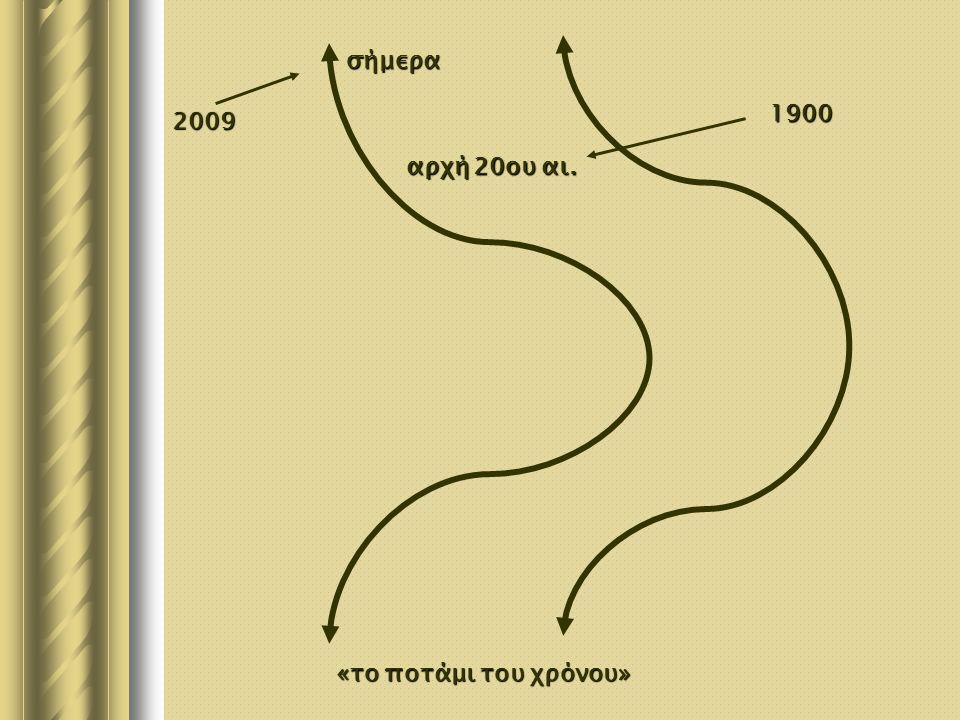 2009 1900 σήμερα αρχή20ου αι. αρχή 20ου αι. «το ποτάμι του χρόνου»