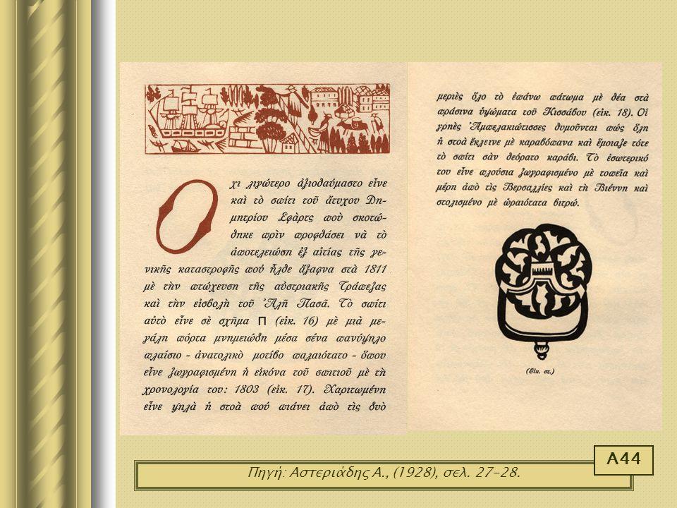 Πηγή: Αστεριάδης Α., (1928), σελ. 27-28. Α44
