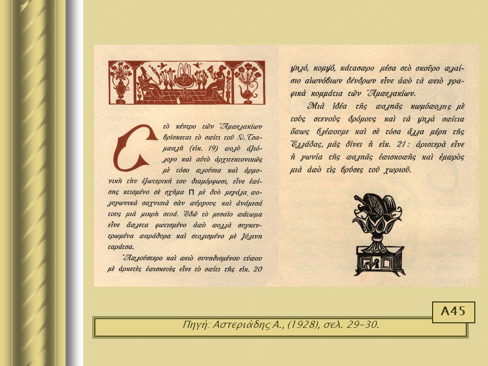 Πηγή: Αστεριάδης Α., (1928), σελ. 29-30. Α45