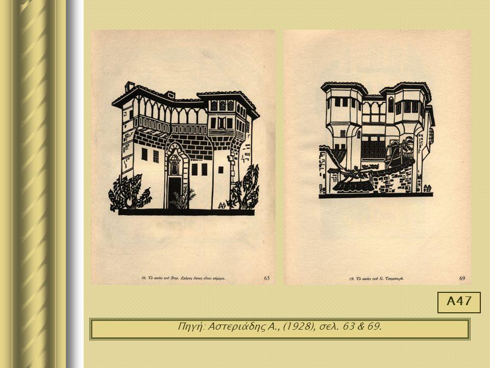 Πηγή: Αστεριάδης Α., (1928), σελ. 63 & 69. Α47