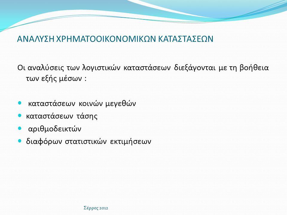ΑΡΙΘΜΟΔΕΙΚΤΗΣ ΑΜΕΣΗΣ Ή ΕΙΔΙΚΗΣ ΡΕΥΣΤΟΤΗΤΑΣ(3) Σέρρες 2012