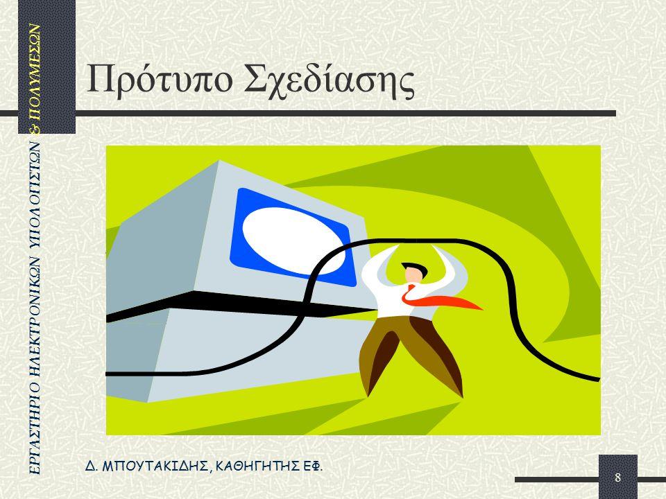Δ. ΜΠΟΥΤΑΚΙΔΗΣ, ΚΑΘΗΓΗΤΗΣ ΕΦ. ΕΡΓΑΣΤΗΡΙΟ ΗΛΕΚΤΡΟΝΙΚΩΝ ΥΠΟΛΟΓΙΣΤΩΝ & ΠΟΛΥΜΕΣΩΝ 7 Διαφάνεια Είναι μια σελίδα στο πρόγραμμα, η οποία εμφανίζεται στην οθό