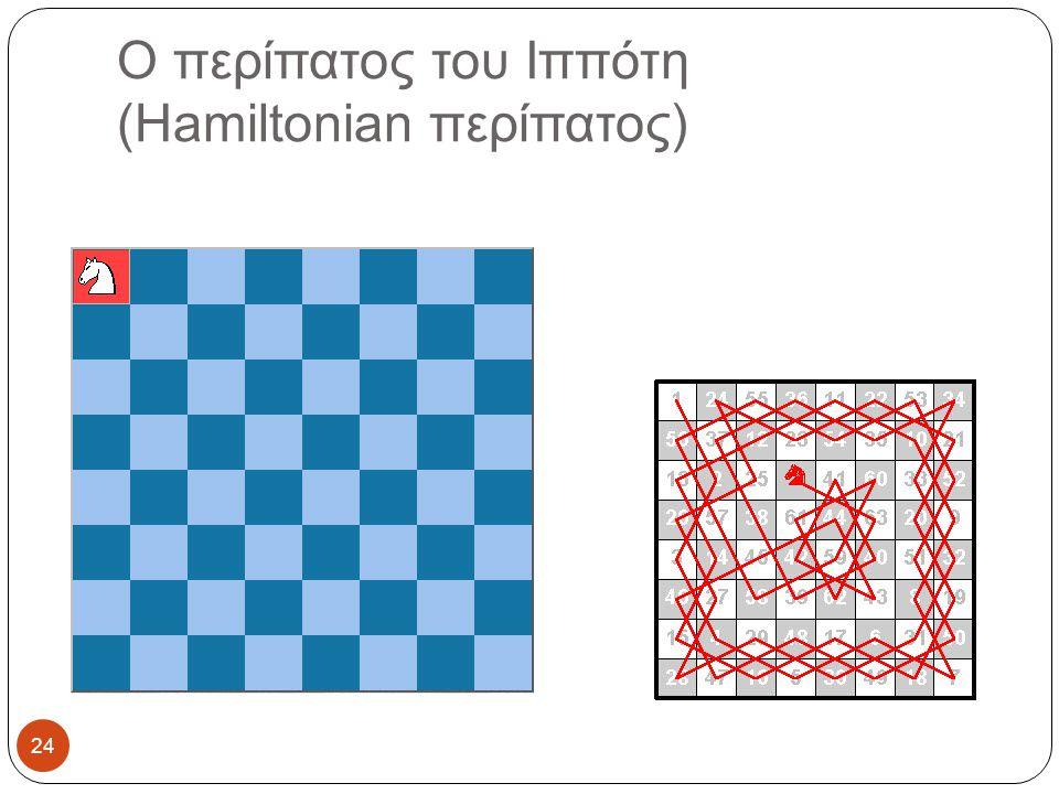 Ο περίπατος του Ιππότη (Hamiltonian περίπατος) 24