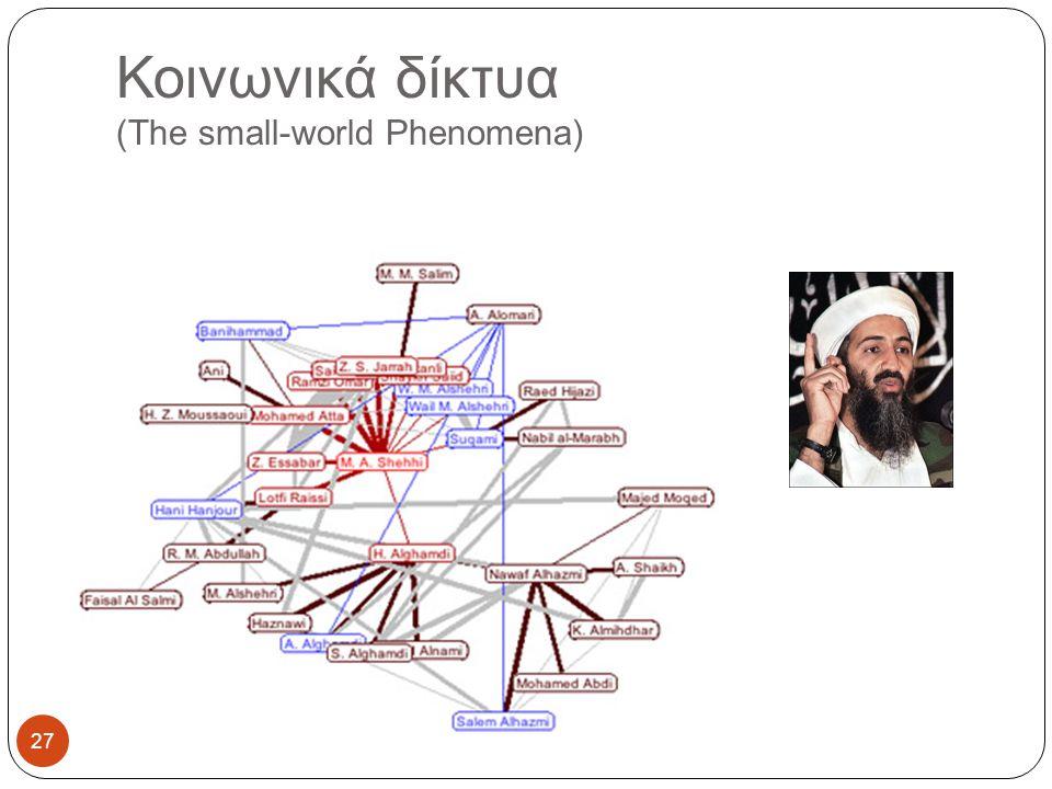 Κοινωνικά δίκτυα (The small-world Phenomena) 27