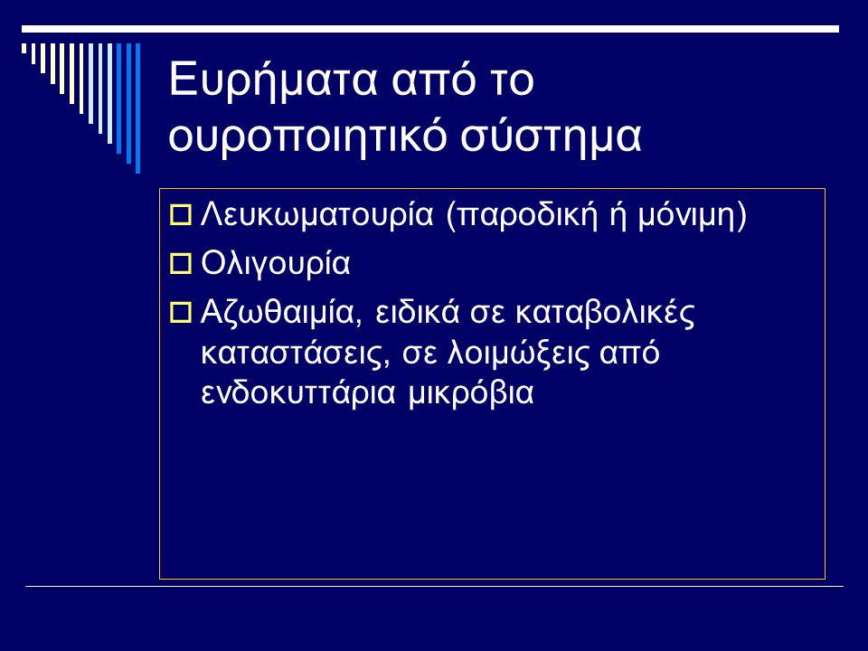 Ευρήματα από το ήπαρ  ΙΚΤΕΡΟΣ 1.