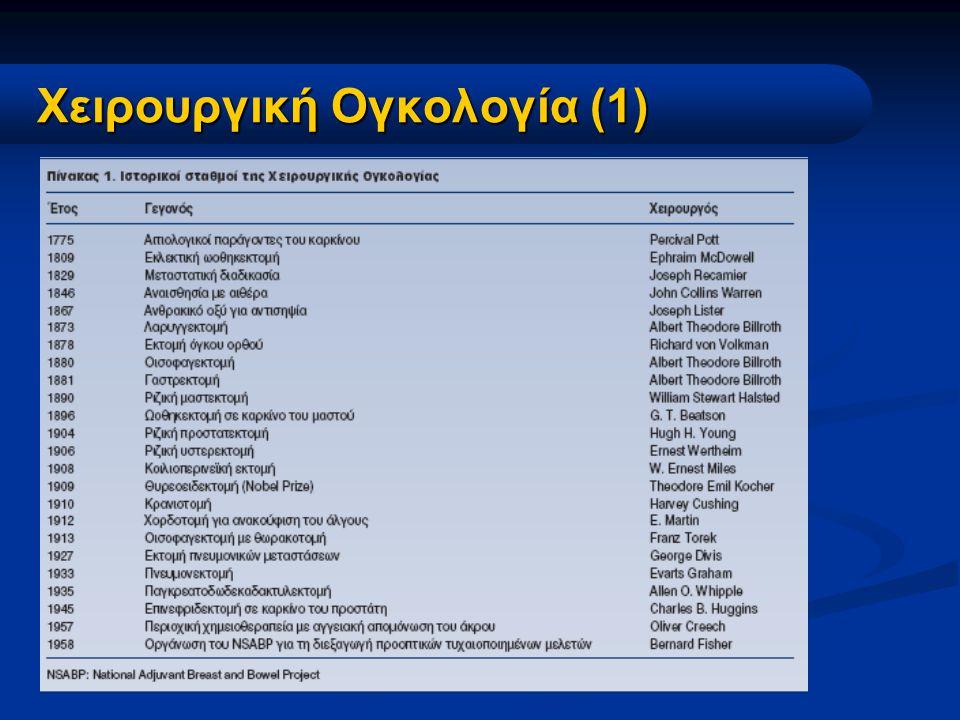 Χειρουργική Ογκολογία (1) Χειρουργική Ογκολογία (1)