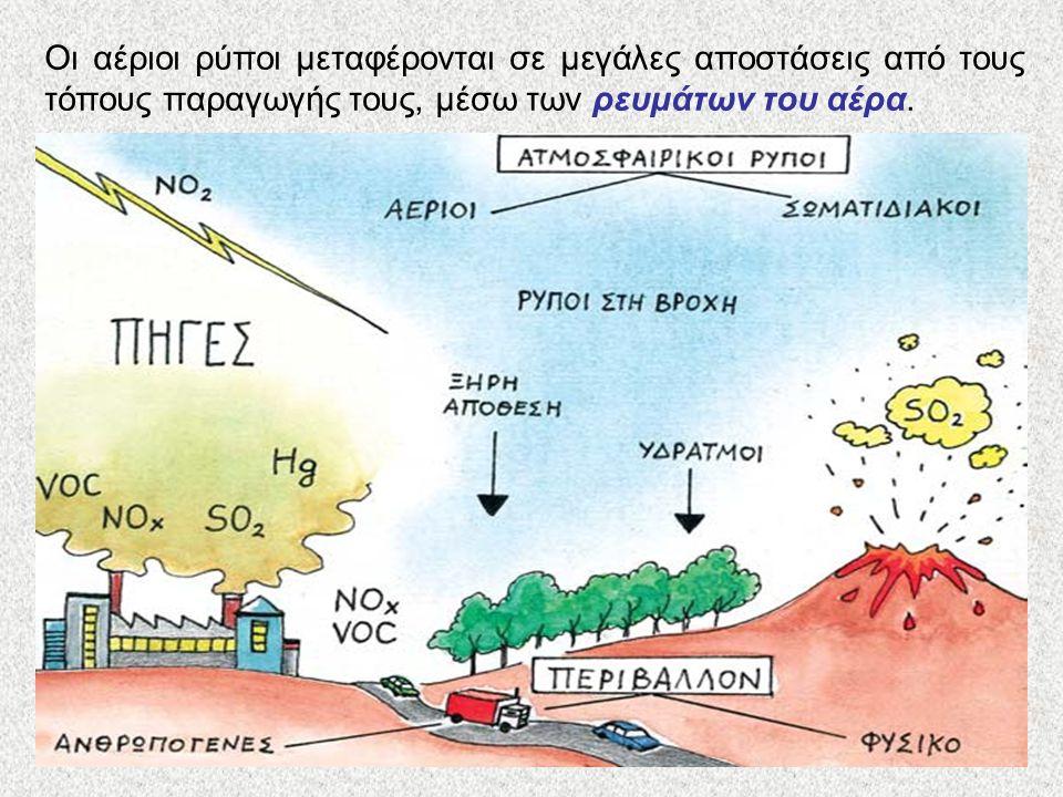 Προστατεύοντας τον πλανήτη από την όξινη βροχή Οι αέριοι ρύποι μεταφέρονται σε μεγάλες αποστάσεις από τους τόπους παραγωγής τους, μέσω των ρευμάτων το