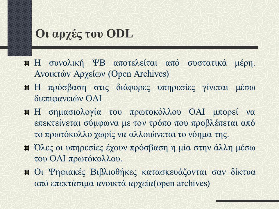 Οι αρχές του ODL Η συνολική ΨΒ αποτελείται από συστατικά μέρη.