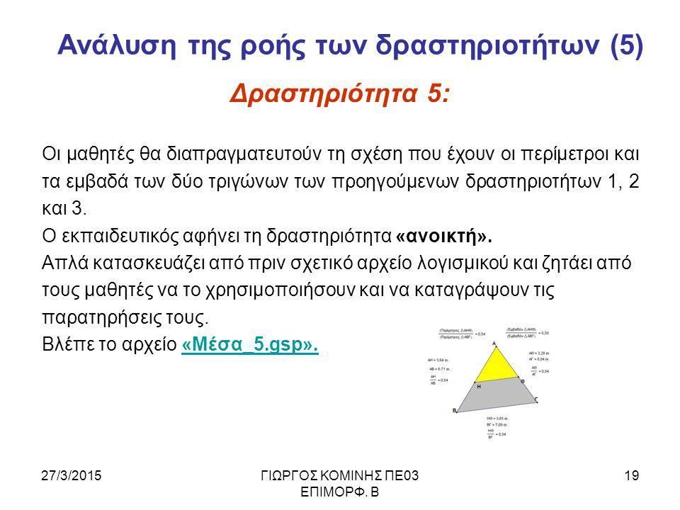 27/3/2015ΓΙΩΡΓΟΣ ΚΟΜΙΝΗΣ ΠΕ03 ΕΠΙΜΟΡΦ.