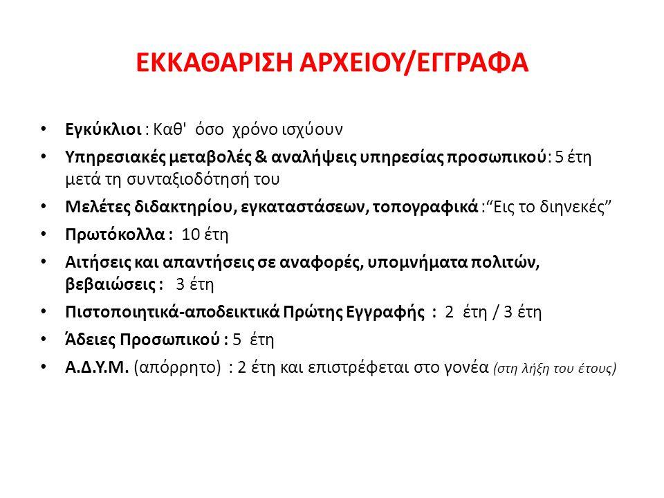 ΒΙΒΛΙΑ ΝΗΠΙΑΓΩΓΕΙΟΥ 1.Πρωτόκολλο (Κοινό) 2.Πρωτόκολλο (Εμπιστευτικό) 3.Βιβλίο Μητρώου Νηπίων 4.Ημερολόγιο Σχολικής Ζωής 5.Βιβλίο Παιδαγωγικού & Εποπτικού Υλικού 6.Βιβλίο Πράξεων Συλλόγου διδασκόντων 7.Βιβλίο Πράξεων Σχολικού Συμβουλίου 8.Βιβλίο Βιβλιοθήκης* Μπορεί να είναι ενσωματωμένο στο Βιβλίο Παιδαγωγικού και Εποπτικού Υλικού 9.
