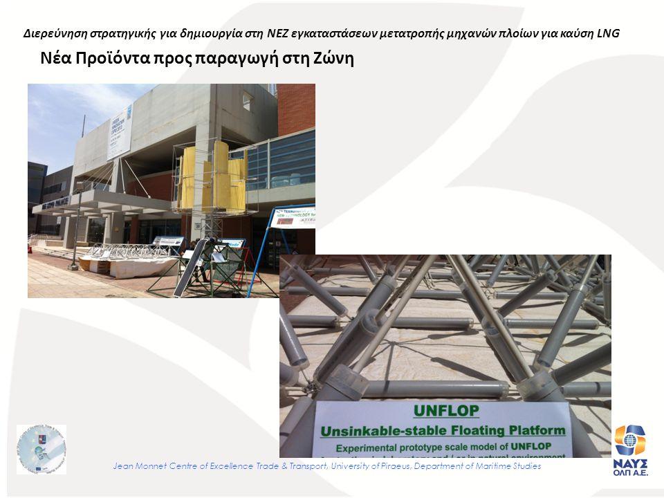 Νέα Προϊόντα προς παραγωγή στη Ζώνη Jean Monnet Centre of Excellence Trade & Transport, University of Piraeus, Department of Maritime Studies Διερεύνηση στρατηγικής για δημιουργία στη ΝΕΖ εγκαταστάσεων μετατροπής μηχανών πλοίων για καύση LNG