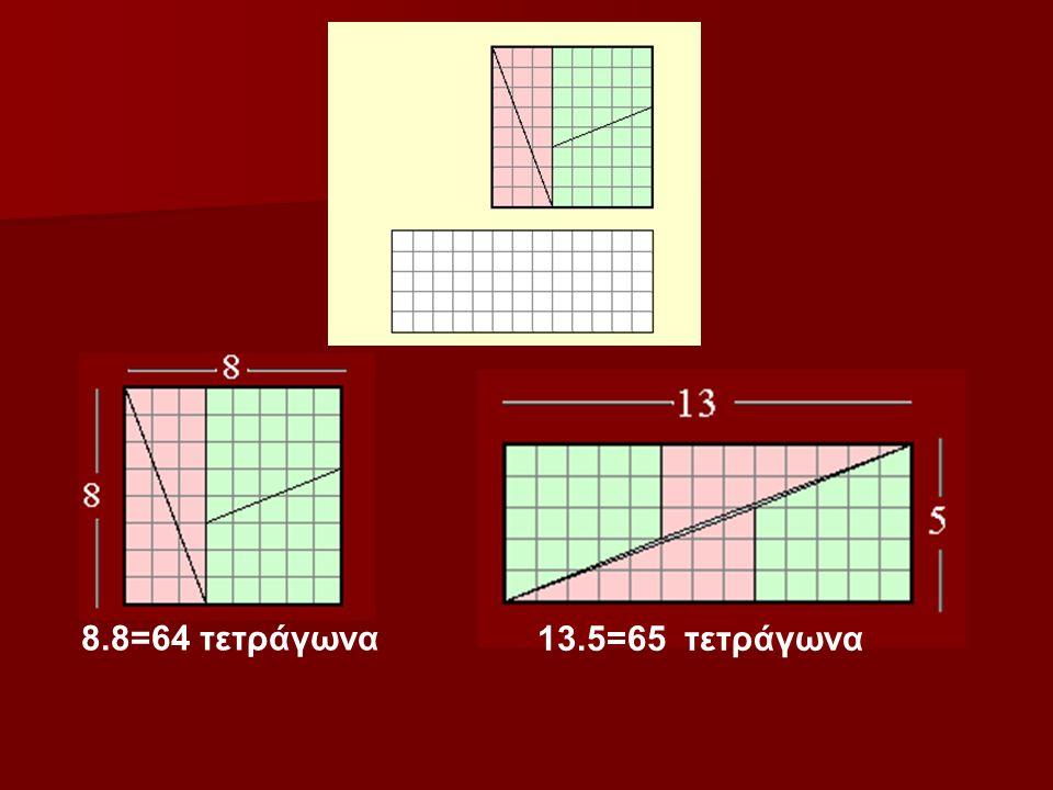 8.8=64 τετράγωνα 13.5=65 τετράγωνα