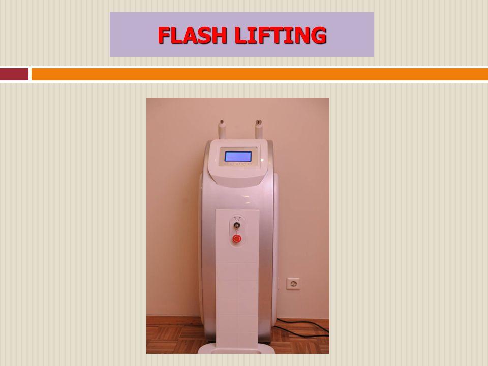 Τι είναι το Μηχάνημα RF cool Flash Lifting  Το μηχάνημα αυτό χάρη στην υψηλή συχνότητα RF και την υπέρυθρη δέσμη, οδηγεί στην θέρμανση των ιστών του χορίου και των κυττάρων που βρίσκονται βαθειά κάτω από το δέρμα του προσώπου μέχρι τη στιγμή που αυτά θα συσταλούν και έτσι το δέρμα θα αποκτήσει μια πιο σφικτή υφή.