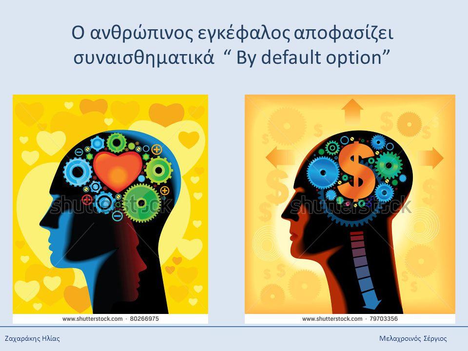 """Ζαχαράκης Ηλίας Μελαχροινός Σέργιος O ανθρώπινος εγκέφαλος αποφασίζει συναισθηματικά """" By default option"""""""