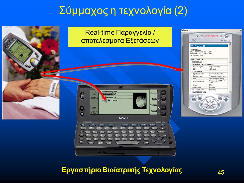 Εργαστήριο Βιοϊατρικής Τεχνολογίας Σύμμαχος η τεχνολογία (2) 45