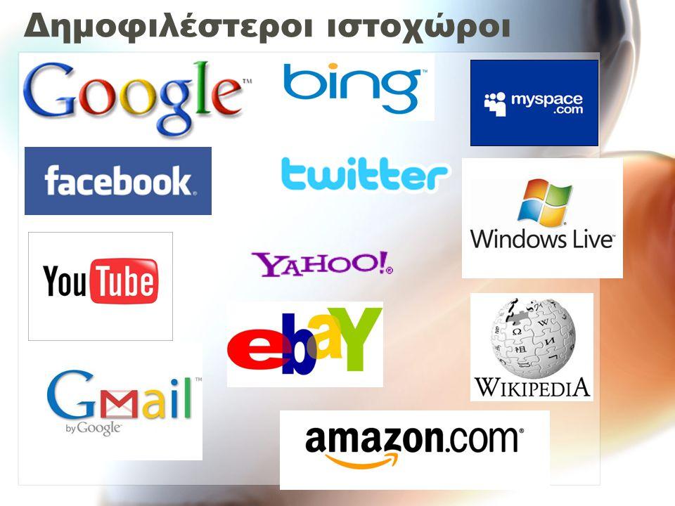 Δημοφιλέστεροι ιστοχώροι