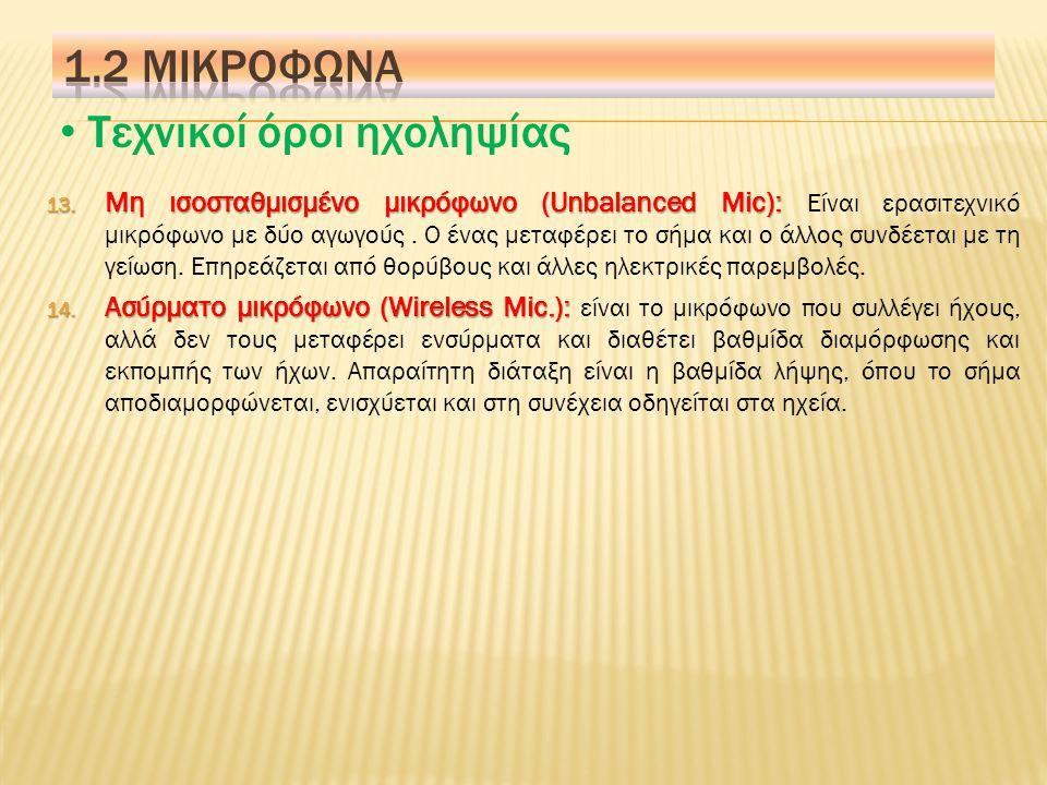 Τεχνικοί όροι ηχοληψίας 7.Μικρόφωνο Λαβαλιερ (Lavaliere Mic): 7.