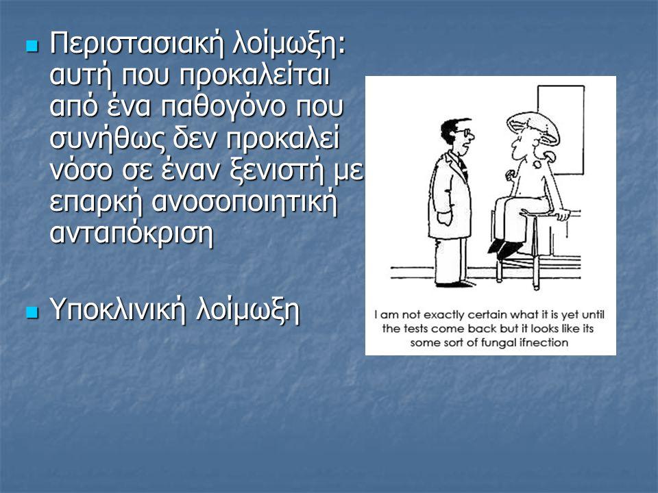 Υπεροξεία / οξεία / υποξεία / χρόνια λοίμωξη Υπεροξεία / οξεία / υποξεία / χρόνια λοίμωξη Παθογόνος δύναμη Παθογόνος δύναμη