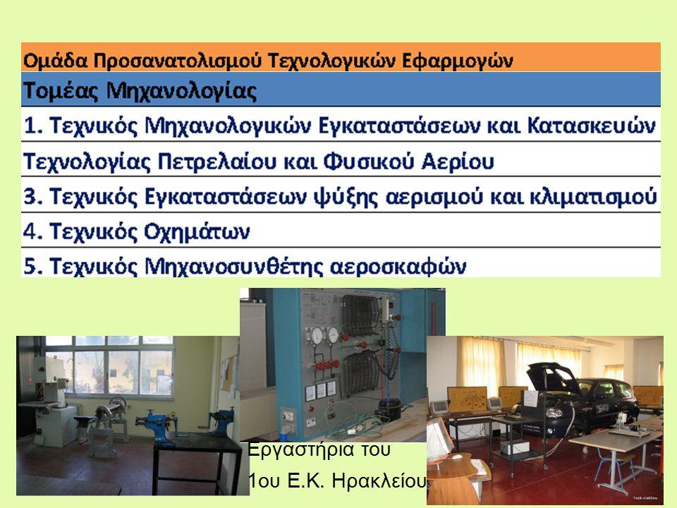 Εργαστήρια του 1ου Ε.Κ. Ηρακλείου
