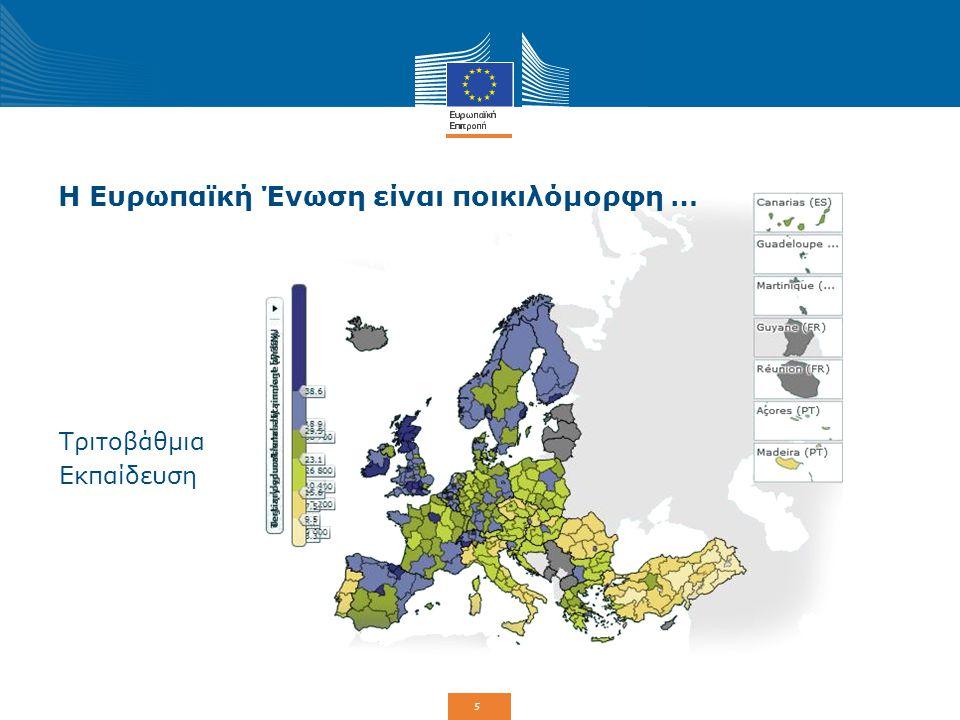 5 Η Ευρωπαϊκή Ένωση είναι ποικιλόμορφη … Τριτοβάθμια Εκπαίδευση
