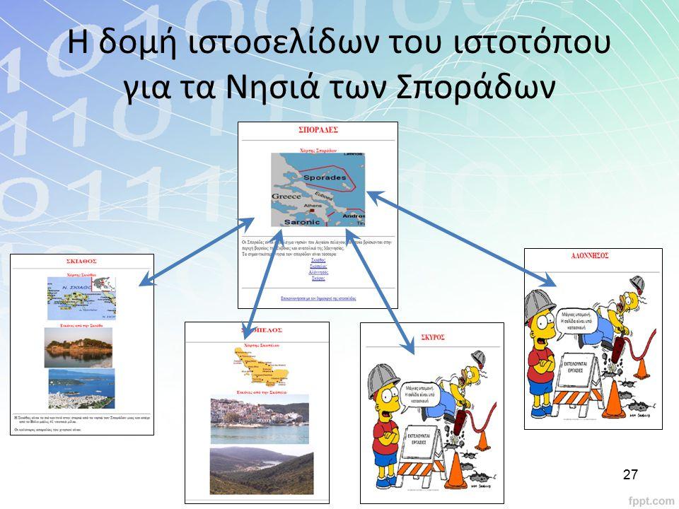 Η δομή ιστοσελίδων του ιστοτόπου για τα Νησιά των Σποράδων 27