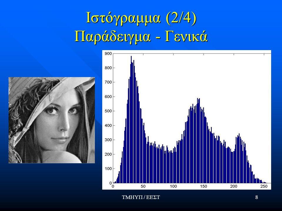 ΤΜΗΥΠ / ΕΕΣΤ8 Ιστόγραμμα (2/4) Παράδειγμα - Γενικά