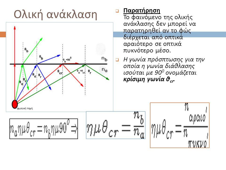Άσκηση 3  Μονοχρωματική φωτεινή ακτίνα διαδίδεται στον αέρα όταν προσπίπτει στην έδρα ΑΒ του πρίσματος του σχήματος υπό γωνία θ α =45 o.
