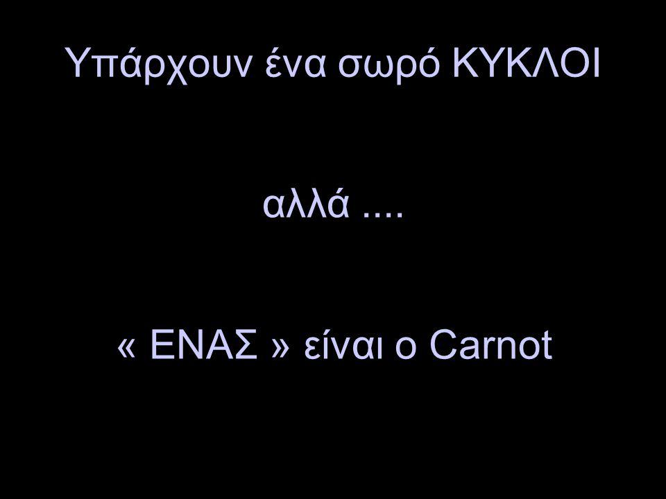 Υπάρχουν ένα σωρό ΚΥΚΛΟΙ αλλά.... « ΕΝΑΣ » είναι ο Carnot
