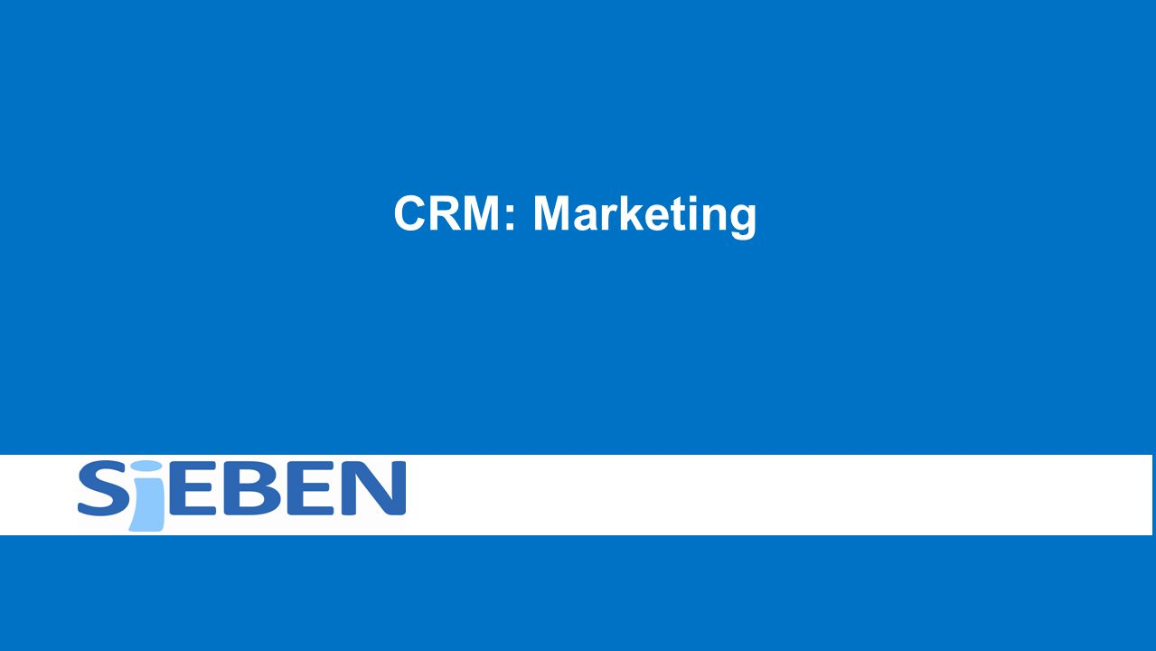 CRM: Marketing