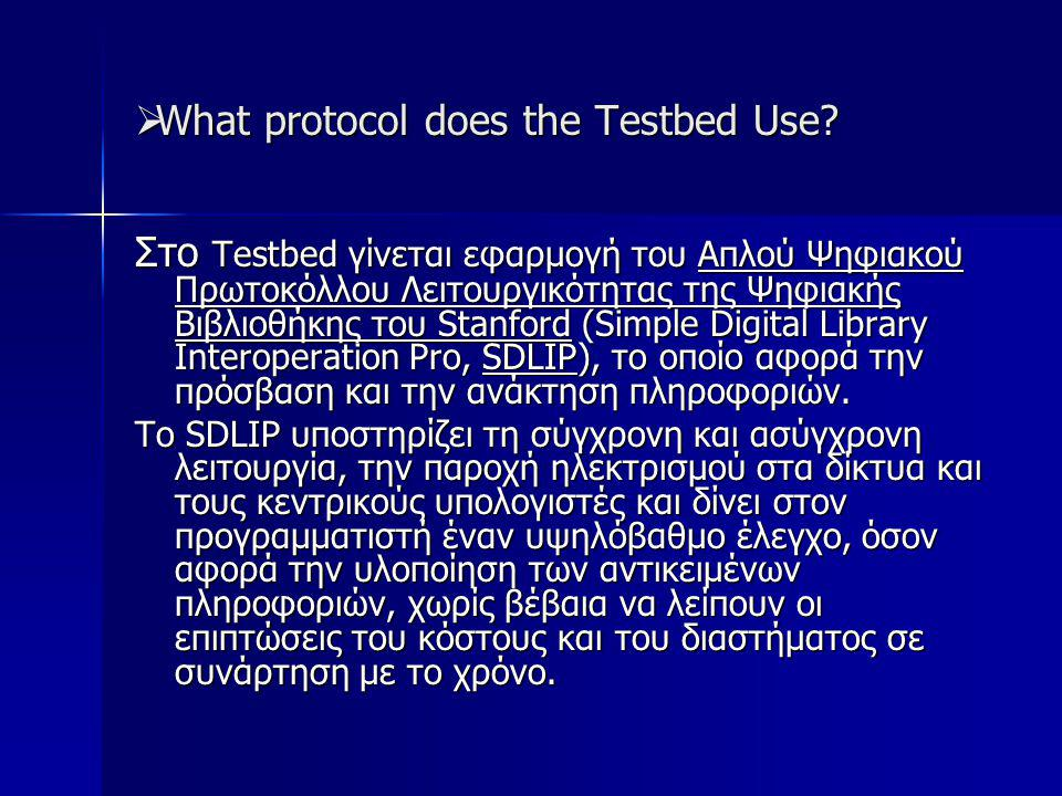  What protocol does the Testbed Use.
