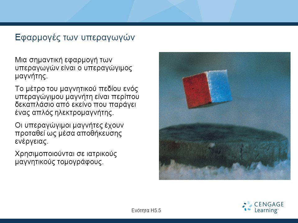 Εφαρμογές των υπεραγωγών Μια σημαντική εφαρμογή των υπεραγωγών είναι ο υπεραγώγιμος μαγνήτης.