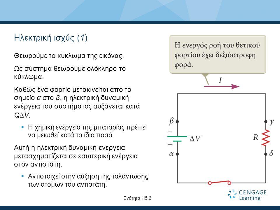 Ηλεκτρική ισχύς (1) Θεωρούμε το κύκλωμα της εικόνας.