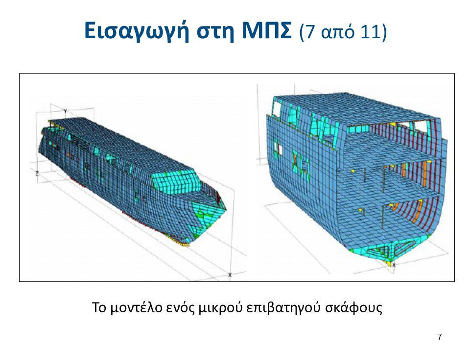 Εισαγωγή στη ΜΠΣ (7 από 11) Το μοντέλο ενός μικρού επιβατηγού σκάφους 7