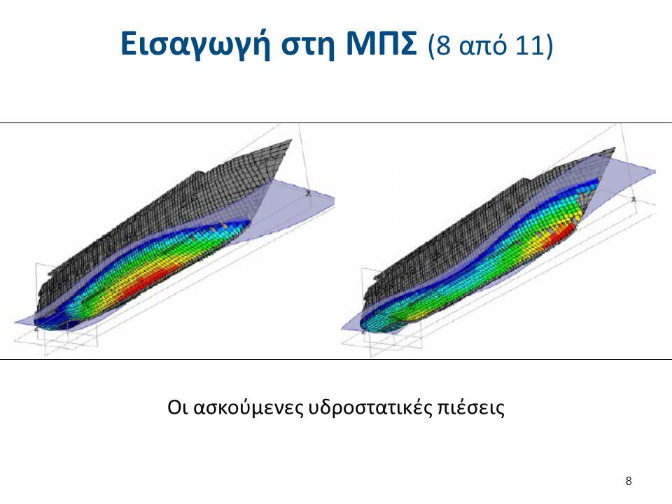Εισαγωγή στη ΜΠΣ (8 από 11) Οι ασκούμενες υδροστατικές πιέσεις 8