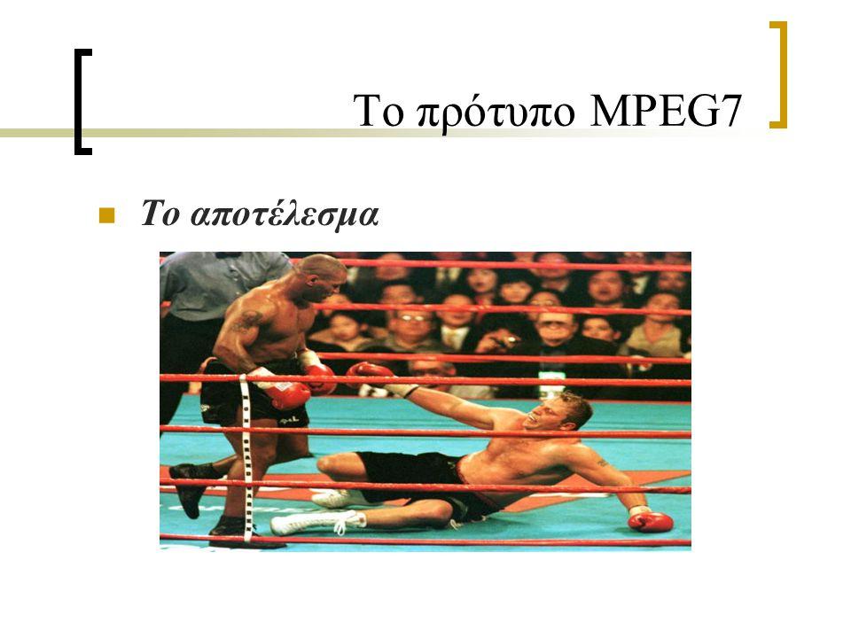 Το πρότυπο MPEG7 Το αποτέλεσμα