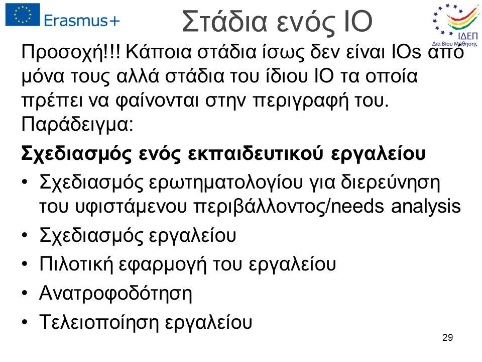 Στάδια ενός IO Προσοχή!!.