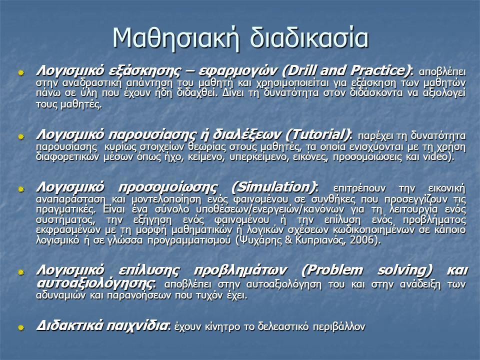 Βαθμός αλληλεπίδρασης Ανοικτό περιβάλλον: έχει τη βάση το γνωσιοθεωρητικό πλαίσιο του εποικοδομισμού.